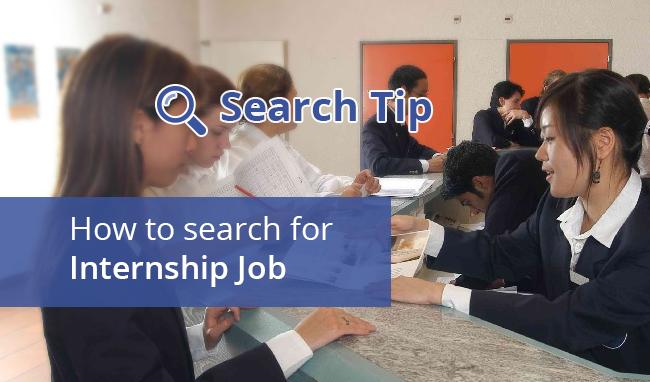 Search for internship job.